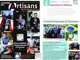 Article Le Monde des Artisans - Septembre 2014